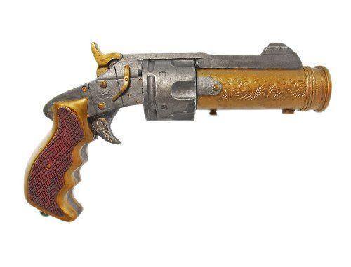 Replica Steampunk Style Prop Revolver Gun Sci-Fi Decor - http://www.tutorfrog.com/replica-steampunk-style-prop-revolver-gun-sci-fi-decor/  #Toys #Coolproducts #Bestsellers