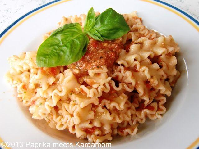 Pesto aus rohen Tomaten
