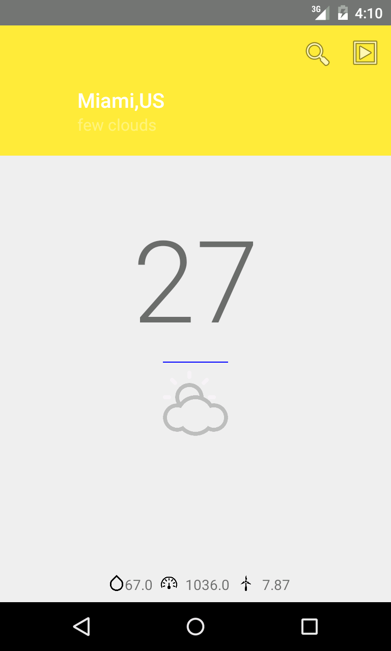 Android Tutorial About How To Create A Weather App Using Material Design With Openweathermap Yahoo