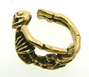 Brass Skeletons Ring