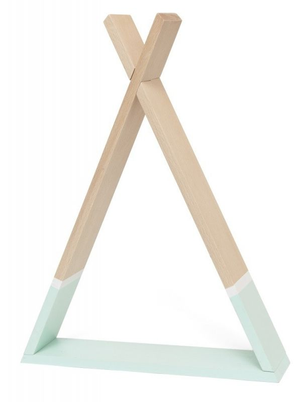 The Cutest Tipi Shelf Made Of Beech Wood And Painted With Non Toxic Water Based Paint Easy To Assemble Screws Included Knots Color Difference