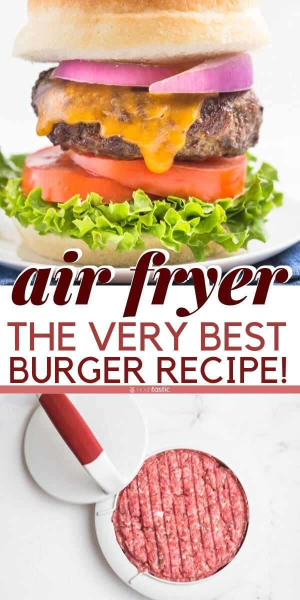 Air Fryer Hamburgers are the easiest to cook! You can make