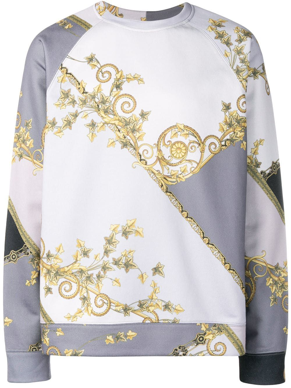 491f418f VERSACE VERSACE COLLECTION GOLD LEAF PRINT SWEATSHIRT - GREY. #versace  #cloth