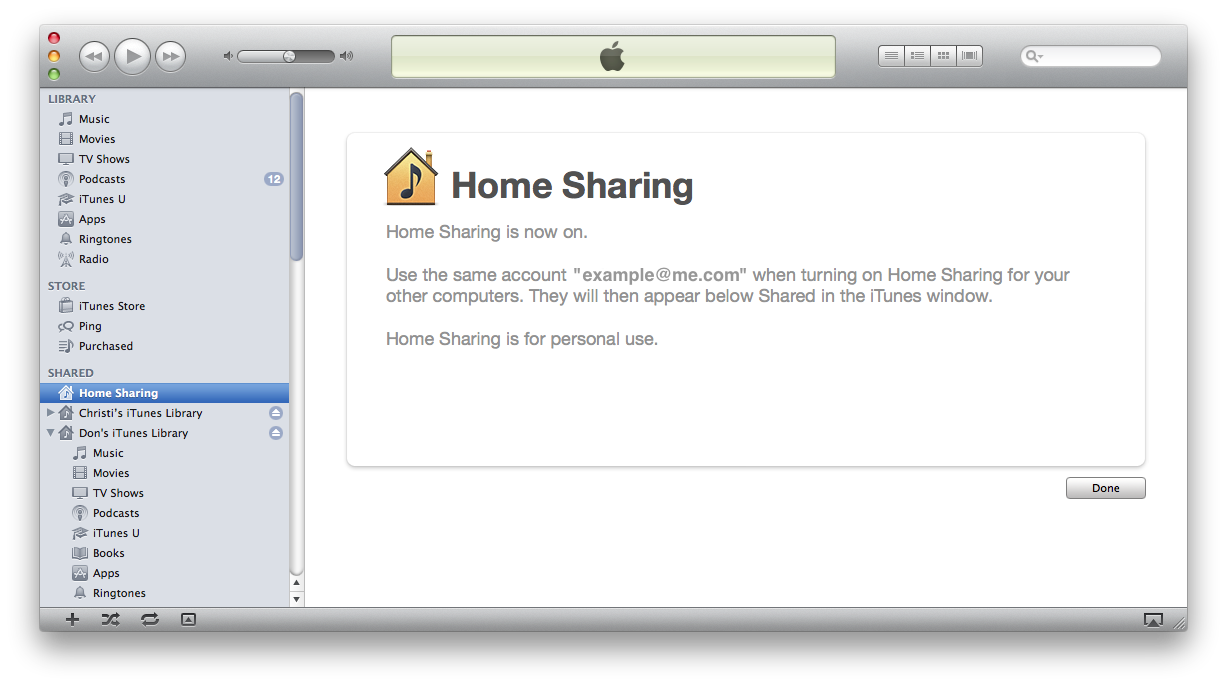 Use Home Sharing To Share Itunes Content With Other Devices
