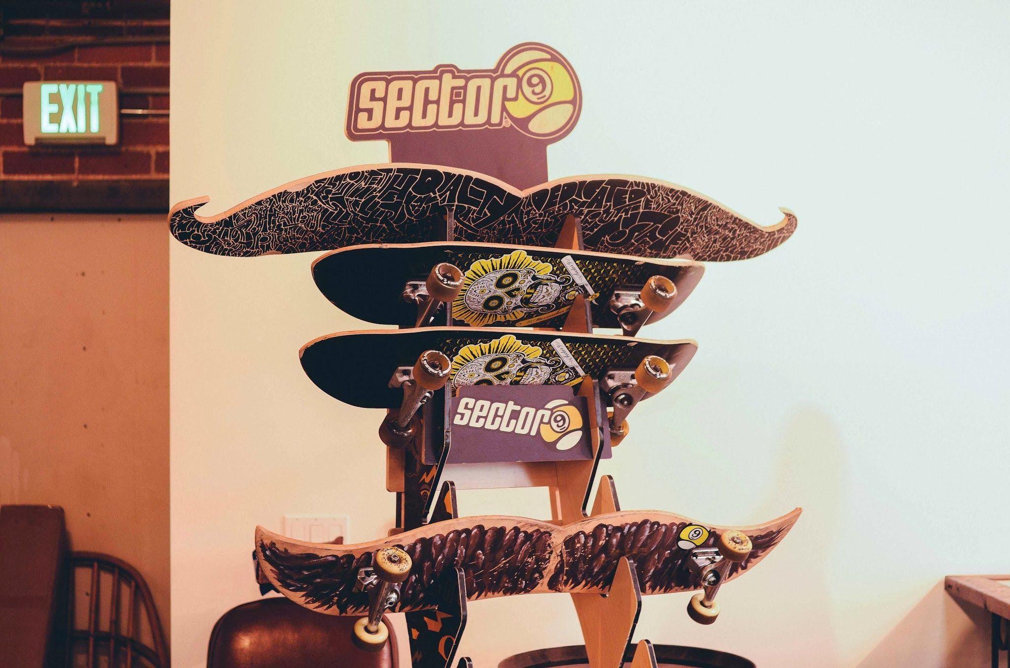 Mustache skateboards at the LA Movember headquarters. Photos were processed with VSCO. // www.cjjohnson.tv www.movember.com   #movember #mobro #Mustaches #portraits #culvercity #cjjohnson #michaelpowell #gq #vsco