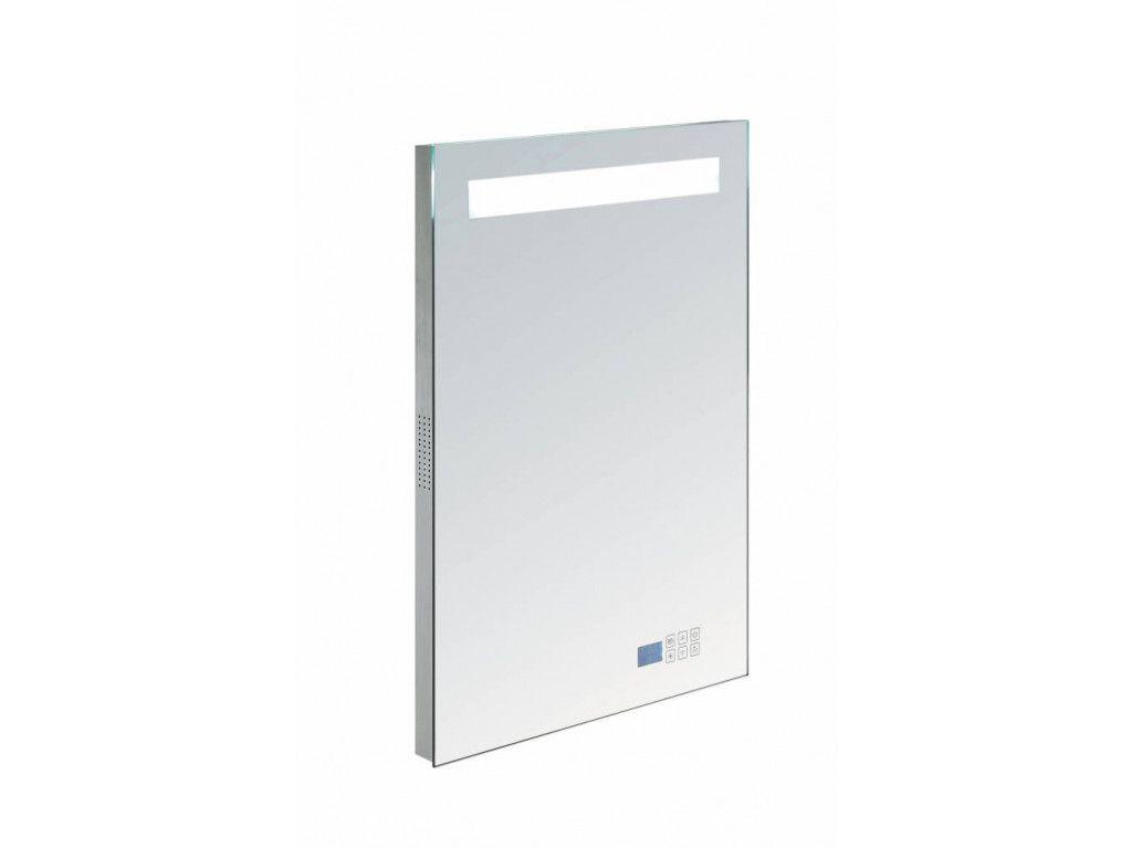 Purismo gomera aluminium spiegel met tl verlichting en radio