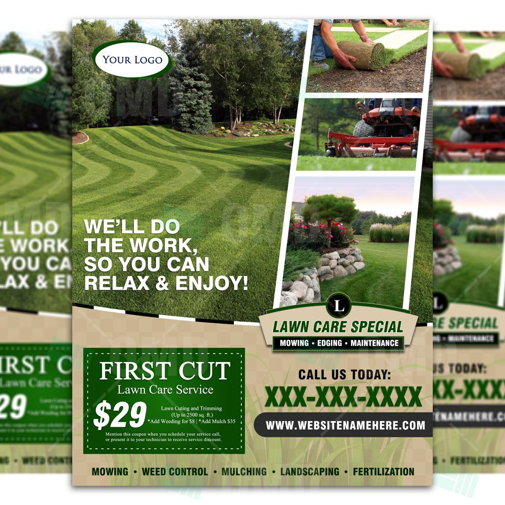 flyers for yard work grass cutting and others but where we can fill
