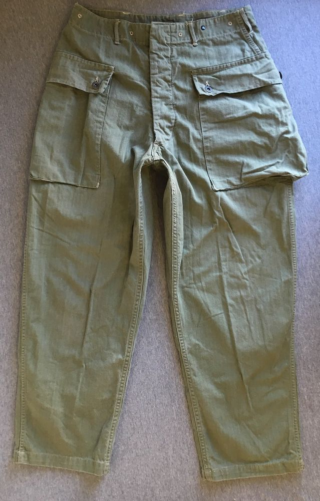 7f918865bd04d2 WWII Monkey Pants HBT M44 Vintage Marines Herringbone USMC Uniforms Named   Monkeypants  collectors  marines  WWII