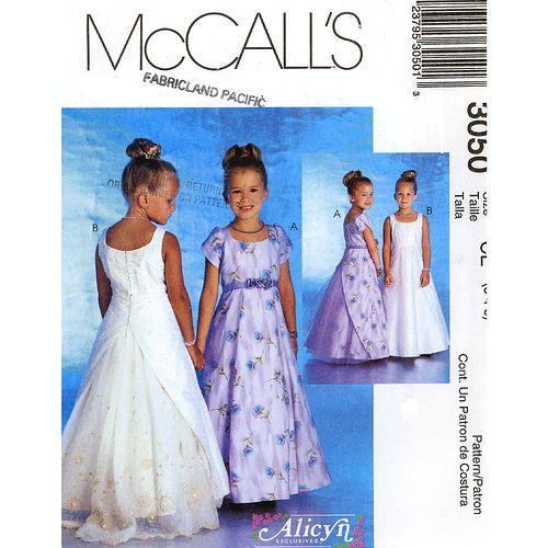 Flower+Girl+Dress+simplicity+Patterns | McCall\'s 3050 girls flower ...