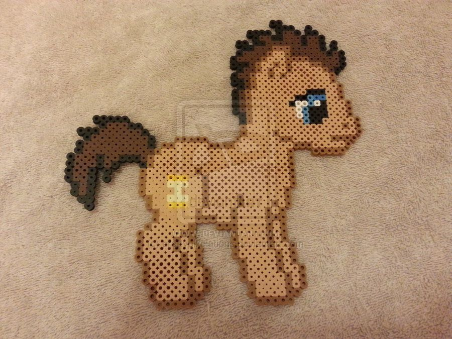 Time Turner / Doctor Whooves Bead Sprite by prettypixelations.deviantart.com on @DeviantArt