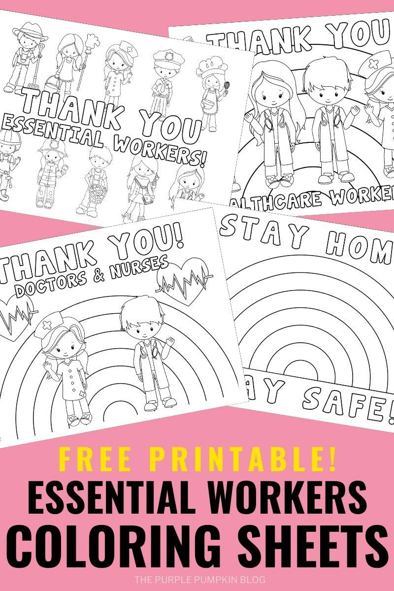 Essential Workers Coloring Sheets Coloring Pages For Boys Coloring Sheets Barbie Coloring Pages