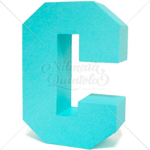 D Square Letter Block C  Nilmara Quintela Paper Designer  D