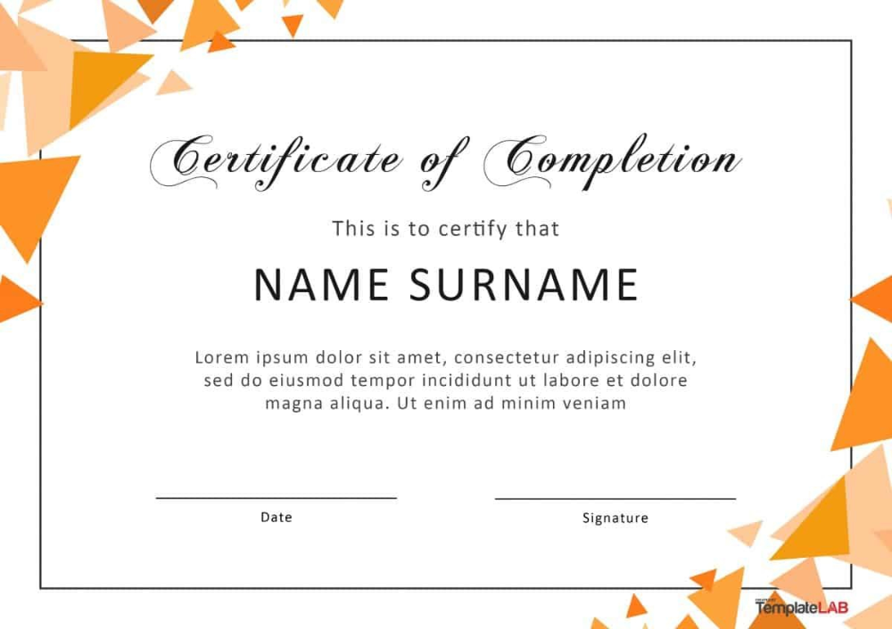 Fantastic Certificate Of Completion Templates Word Powerpoint W Certificate Of Participation Template Graduation Certificate Template Certificate Of Completion