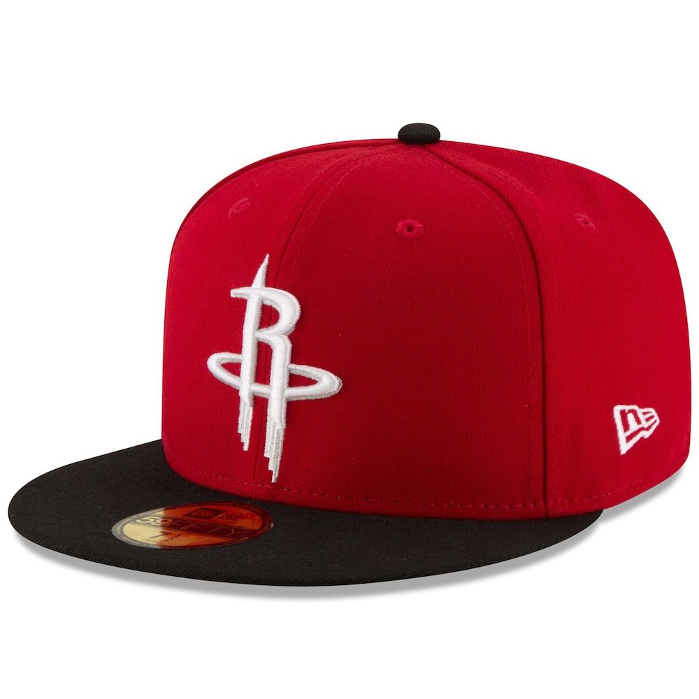 Men S New Era Red Black Houston Rockets Official Team Color 2tone 59fifty Fitted Hat Fitted Hats Houston Rockets Houston Rockets Hat