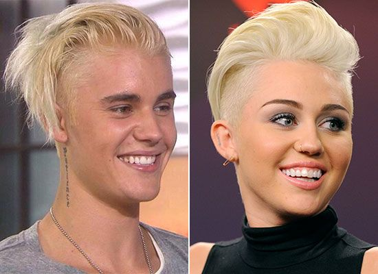 miley and cyrus bieber Justin