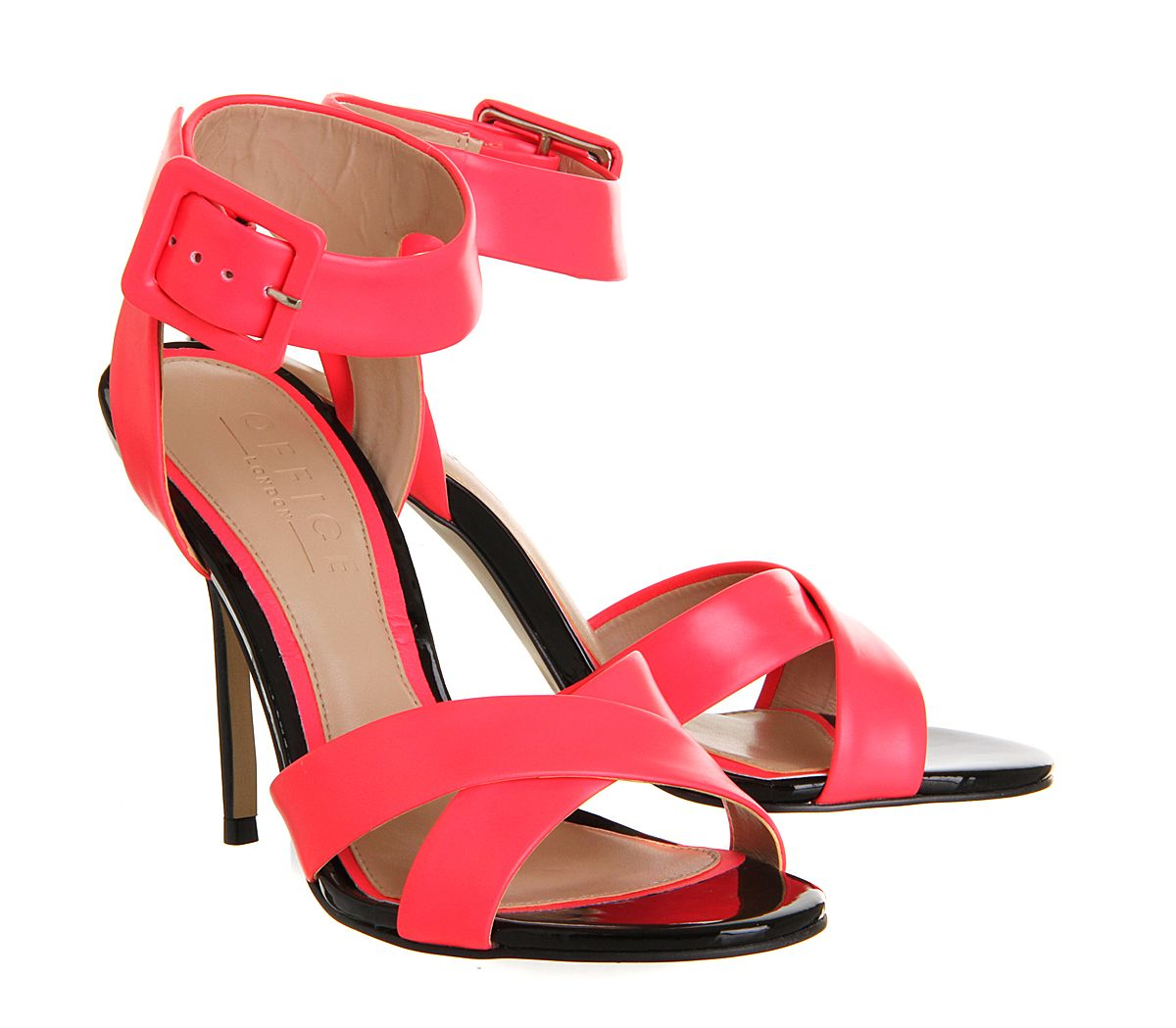 Solo Single Sole Sandal | Leather high heels, Sandals, Pink