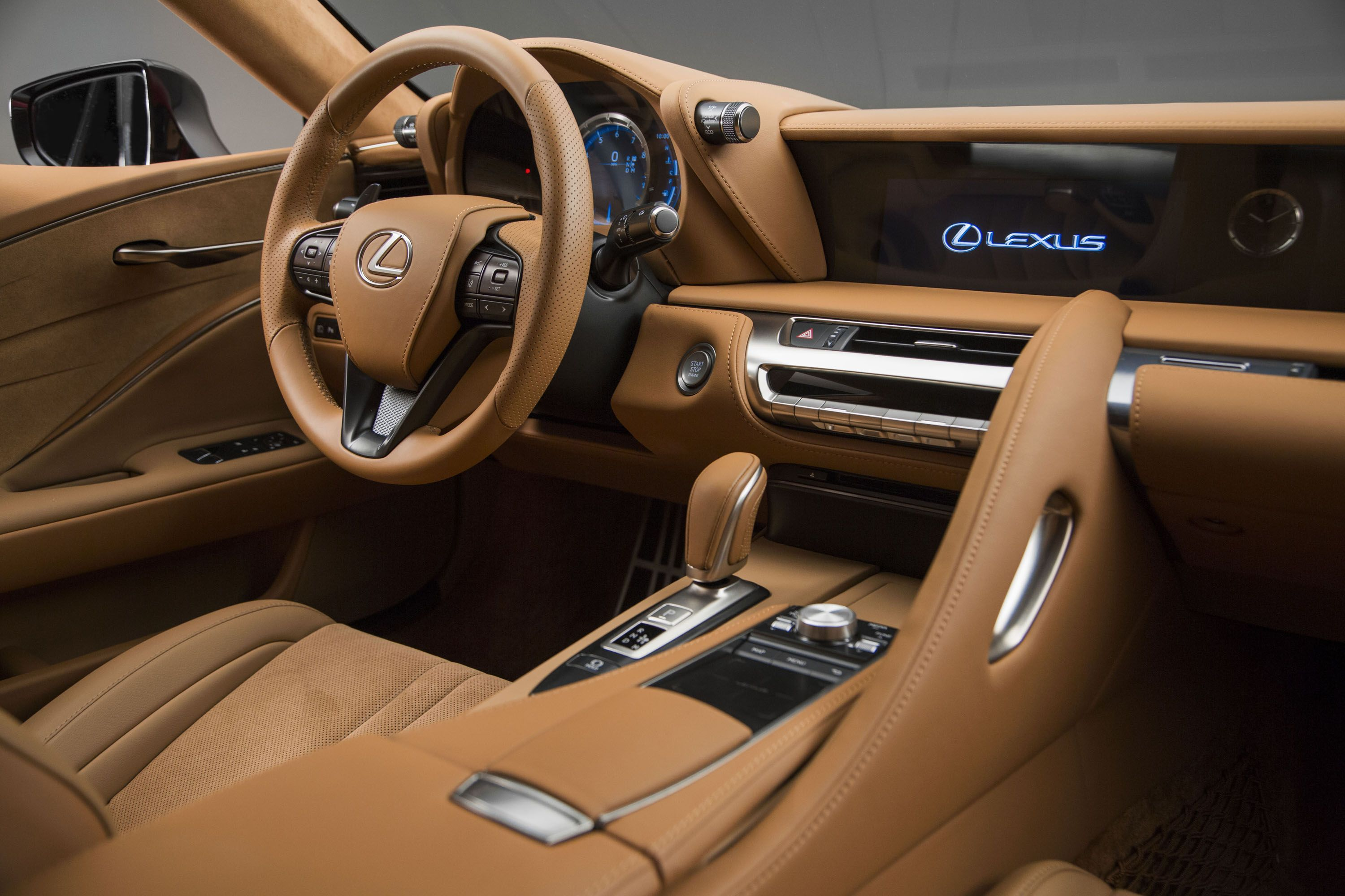 The New Lexus Lc 500 Isn T Just A New Car For The Company It S A New Rear Drive Premium Platform It Does However Get A Ve Lexus Lc Lexus Cars Lexus Sedan