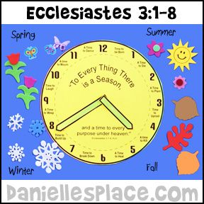 Ecclesiastes 3:1-8 Bible Activity Sheet for Children's Sunday School