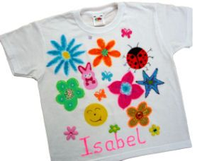 T-shirt painting. Great craft party option. DIY decorated top ...