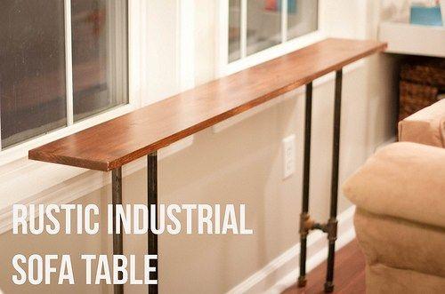 Rustic Industrial Sofa Table