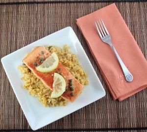 Low Carb Salmon Picatta (Gluten Free and Paleo) - Living Low Carb One Day At A Time