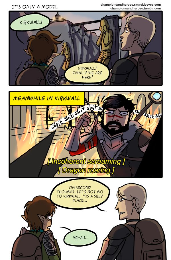 Champions And Heroes Age Of Dragons Comics It S Only A Model Dragon Age Funny Dragon Age Memes Dragon Age Games