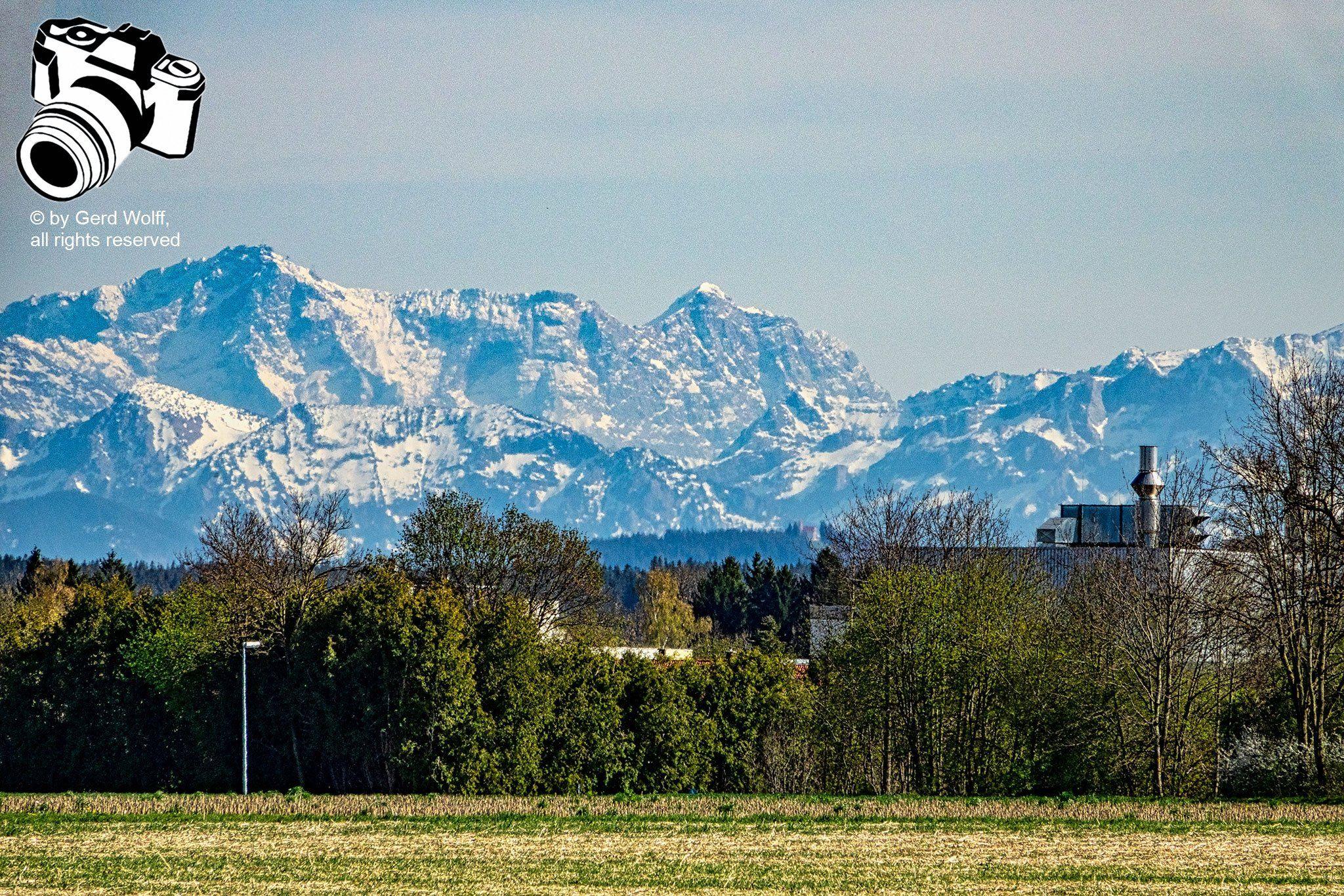 Berge Hinter Kaufbeuren Vordergrund Kolb Berge Bilder Schnappschuss