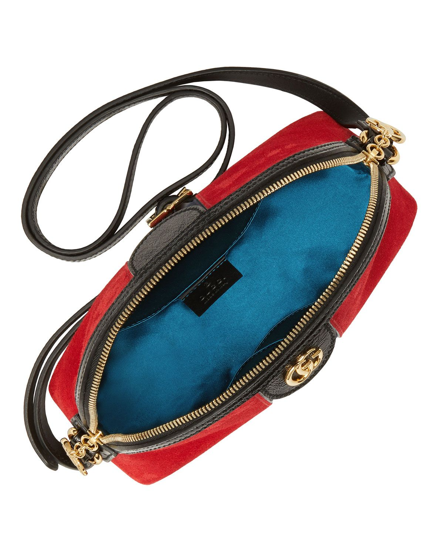 70c252bfb68 Gucci Linea Dragoni Suede Small Chain Shoulder Bag