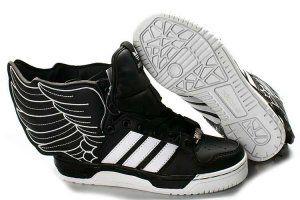 size 40 f0bbf 2dde8 A WoMen Adidas Jeremy Scott Originals Js Wings 2 black   white