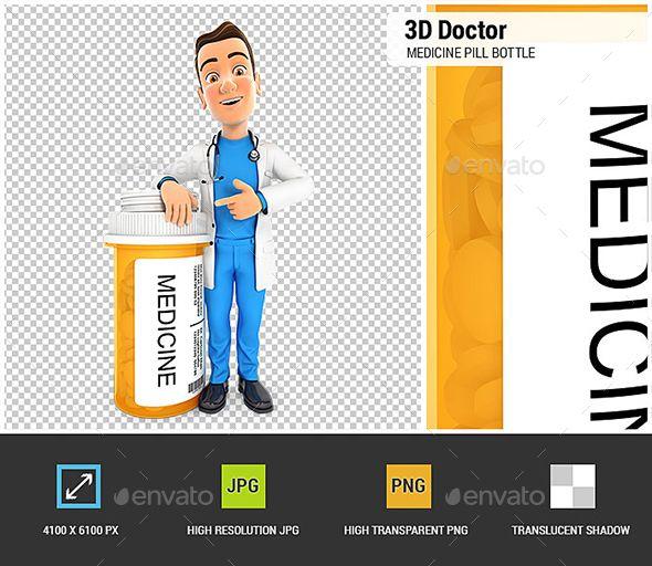 3D Doctor Standing Next to Medicine Pill Bottle. 3D character render. #design #3D #3DModel #3DRender #3DCharacter #modelling #VR #antibiotic #bottle #cartoon #character #chemist #clinic #coat #dentist #doctor #graphics #healthcare #hospital #lab #man #medical #medicine #next #people #person #pharmacy #pill #practitioner #profession #render #standing