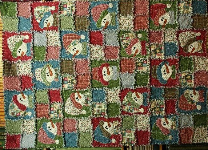 Rag+Quilt+Patterns | Frosty Friends Rag Quilt | Heart N Home | Rag ... : snowman rag quilt pattern - Adamdwight.com