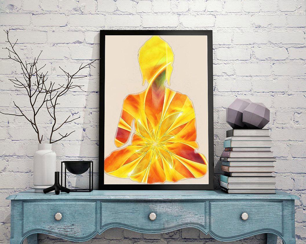 Fine Art Print, art ptint buddha, painting art, wall art print ...