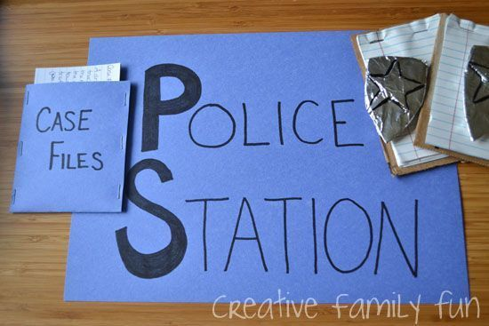Let's Pretend: Police Station - Creative Family Fun #911craftsfortoddlers It's important for young kids to have knowledge of different community helpers that serve their city. We recently learned about police officers and the role they play in our city. After reading a few books and talking about the different roles a police officer plays, I gave the girls a police station pretend play kit...Read More » #911craftsfortoddlers Let's Pretend: Police Station - Creative Family Fun #911craftsfortod #911craftsfortoddlers