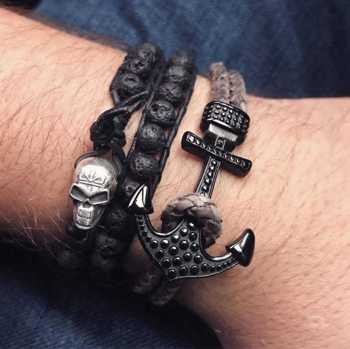 Pulseira masculina com tema náutico Senhor da Moda. Veja mais modelos de  pulseiras no blog 56061c15e2