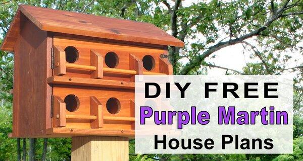 Purple Martin House Plans Free Printable DIY Directions