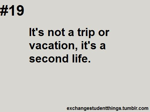 It S Not A Vacation It S A Second Life Foreign Exchange Student