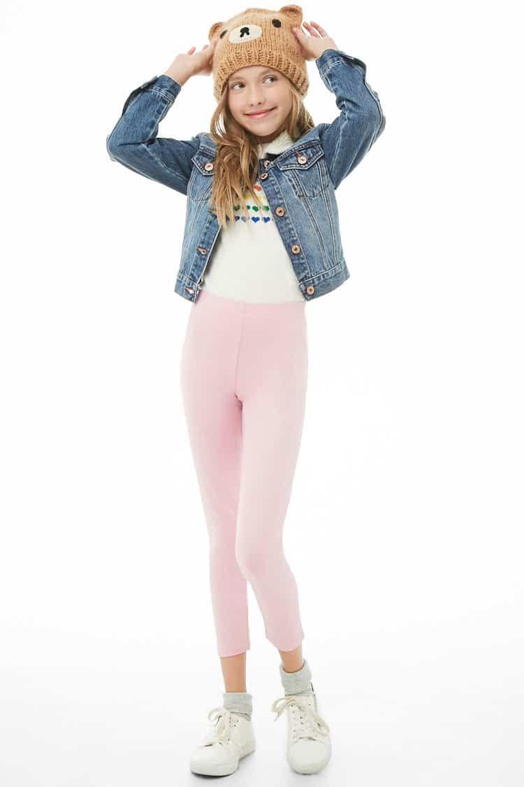 22d7c916d Girls Metallic Knit Leggings (Kids) in 2019 | Kids styling at F21 ...