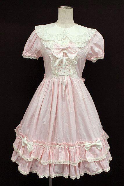 BABY, THE STARS SHINE BRIGHT / Stripe Sweet Dress & Headband Set (Baby the Stars Shine Bright) 7,800 yen