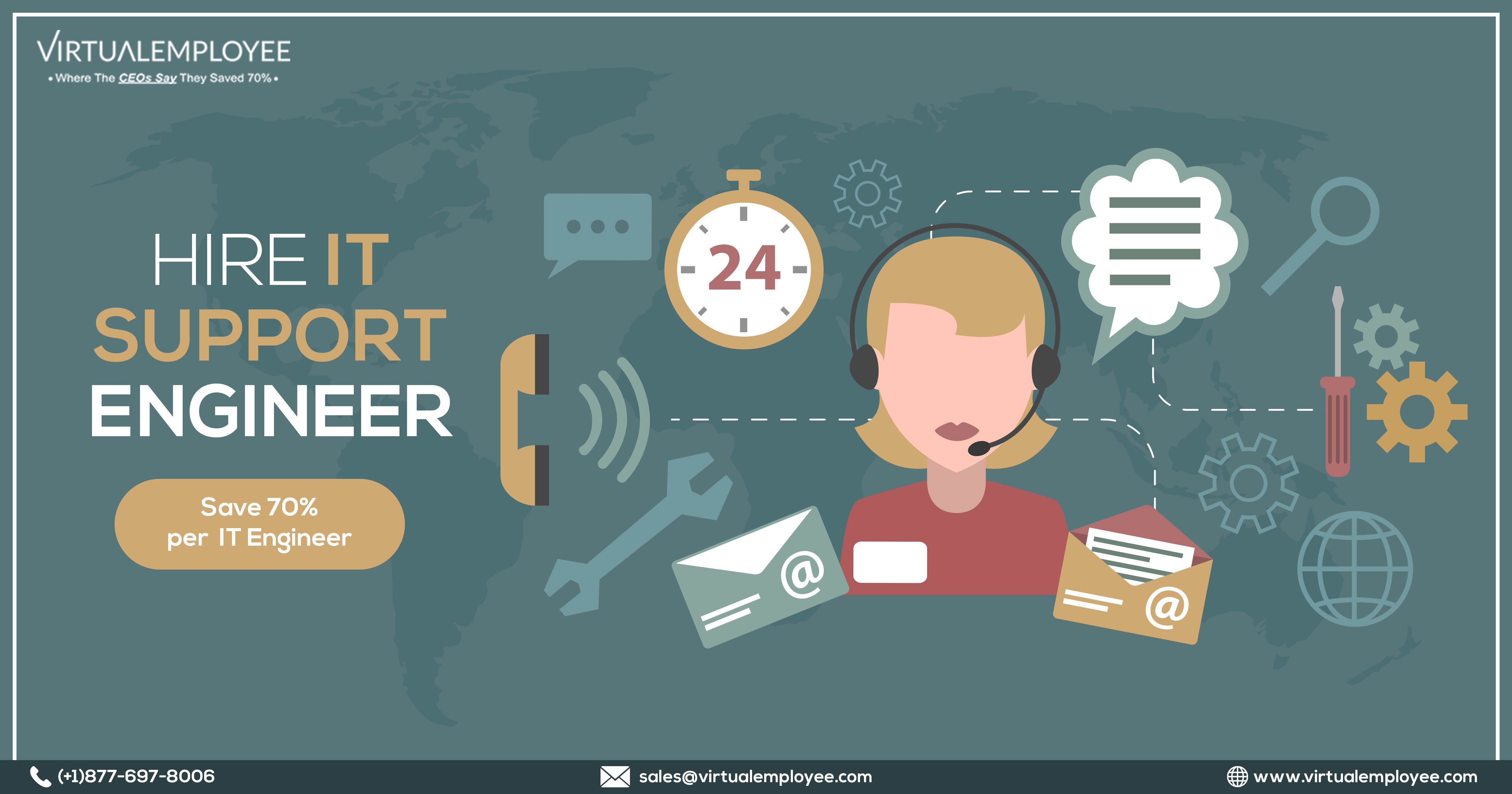 Hire remote technical support engineers from Virtual