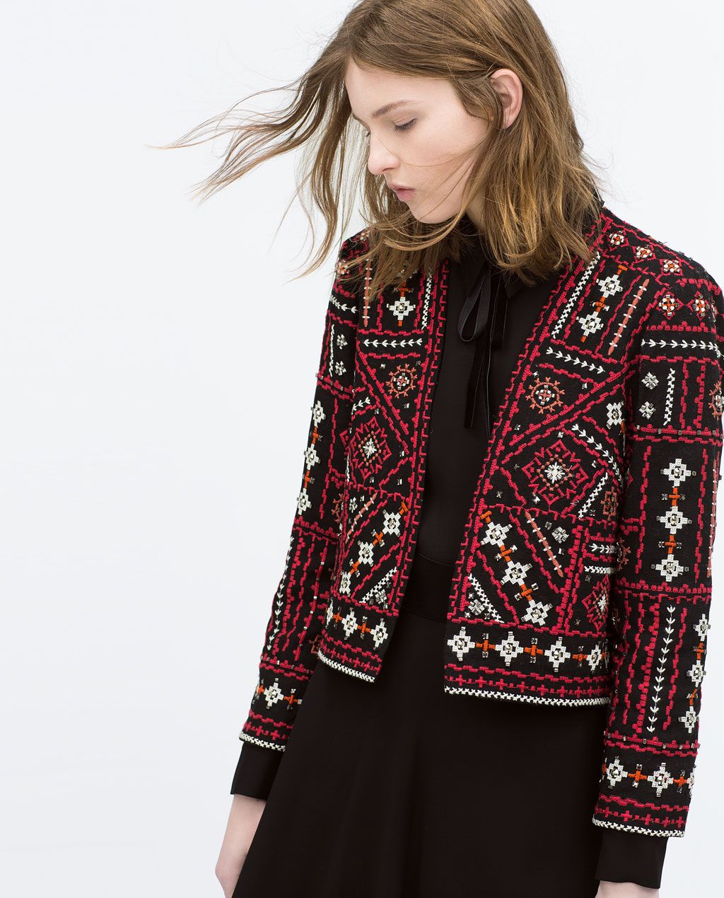 ETHNIC EMBROIDERED JACKET-Jackets-Jacket-WOMAN | ZARA United States | Shopping Wishjar ...