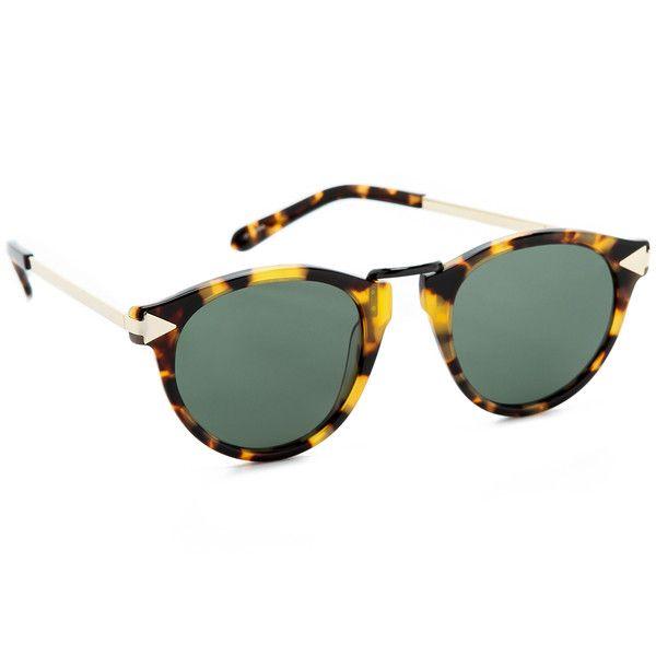 0d45dde4fab Karen Walker Helter Skelter Sunglasses ( 250) ❤ liked on Polyvore featuring  accessories