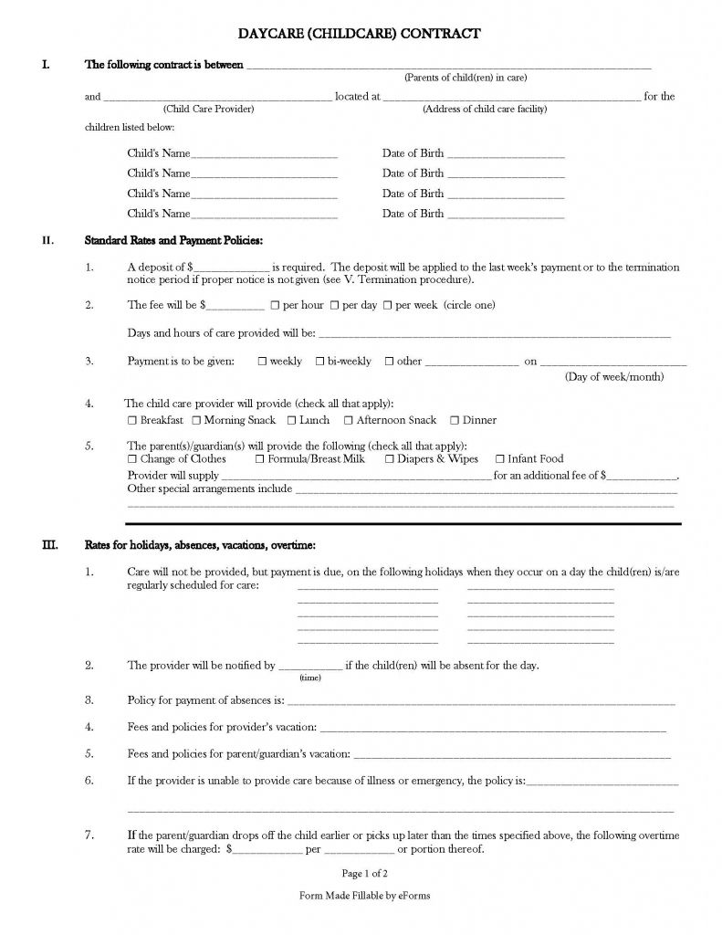 Pin by Tara Smith on Daycare in 2020 Daycare forms