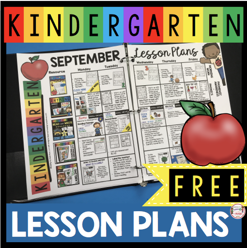 FREE Lesson Plans for Back to School in Kindergarten - All