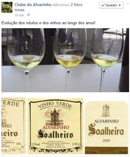 Evolução dos rotulos e dos vinhos ao longo dos anos no Facebook Clube do Alvarinho: https://www.facebook.com/clubedoalvarinho/posts/413561818841913