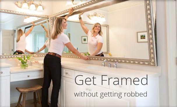 Frame My Mirror | Custom Frame | Home Accents | Bathroom Makeover ...