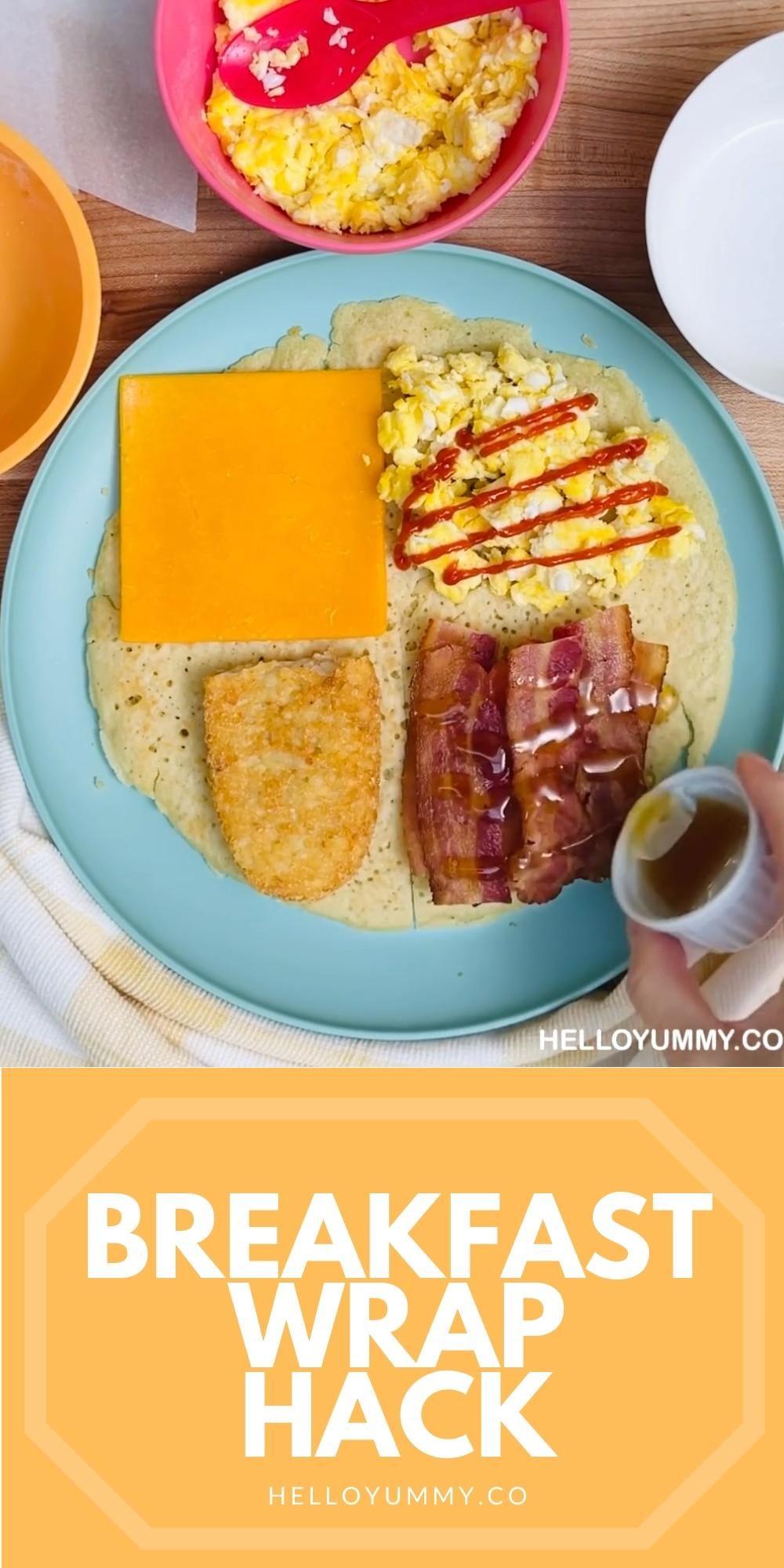 Tiktok Breakfast Wrap Hack Best Wrap Recipe Made With Pancakes Video Recipe Video In 2021 Breakfast Wraps Recipes Best Breakfast Sandwich