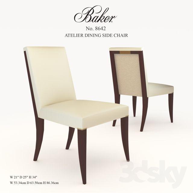 Merveilleux 3d Models: Chair   Baker / ATELIER DINING SIDE CHAIR