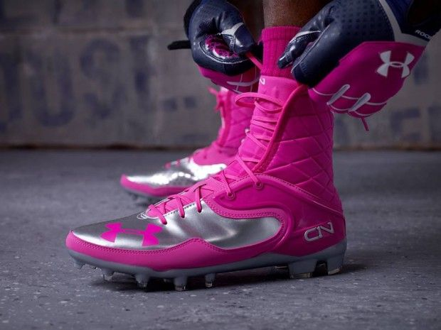 Pink football cleats, Football outfits