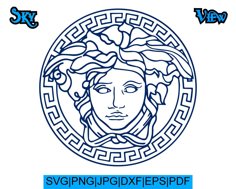 Versace Svg Versace Logo Svg Cricut Silhouette Printable Svg Dxf Jpg Pdf Eps Png By Skyviewid On Etsy Versace Logo Svg Logo Redesign