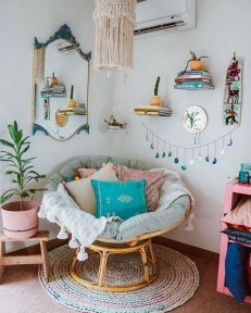 amazing tricks for corner furniture room ideas also enthralling bohemian style home decor color is  rh pinterest